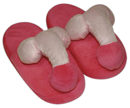 Papuci - Boob Slippers penis, pink